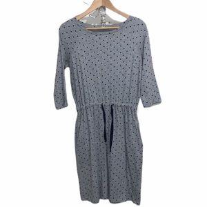 Boden pocket dress drawstring polka dot size 6